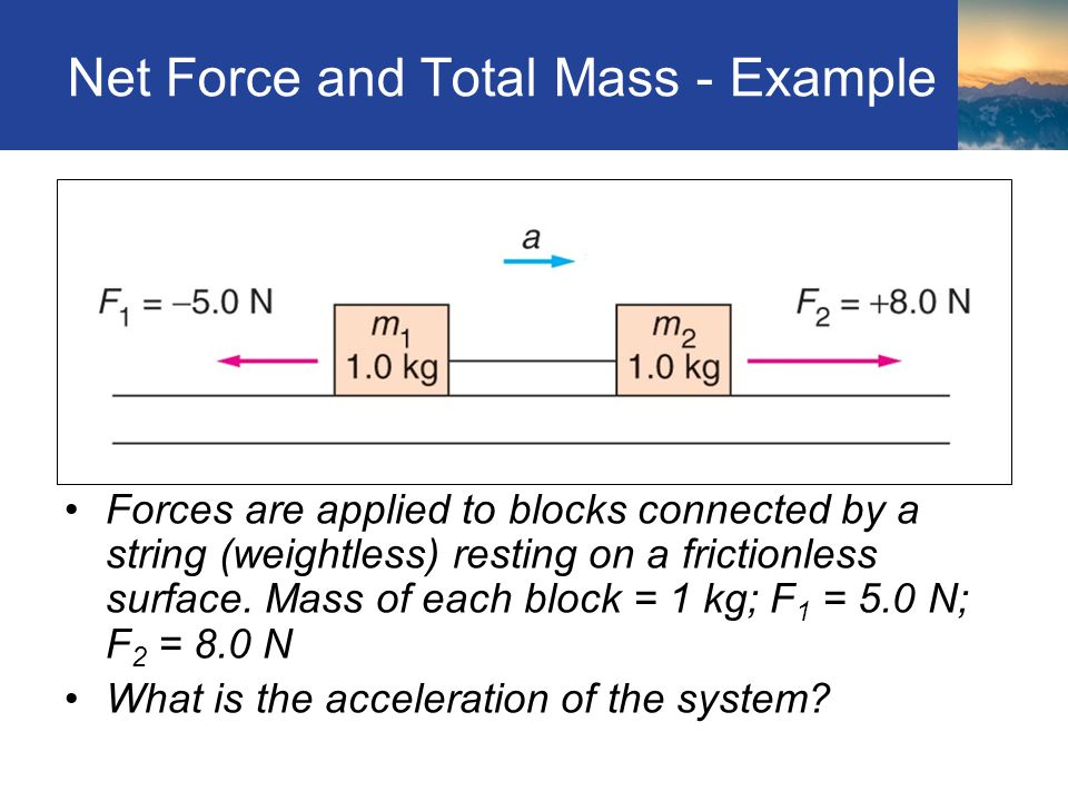 Net Force and Total Mass - Example