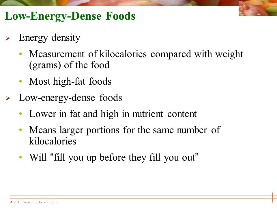 Low-Energy-Dense Foods