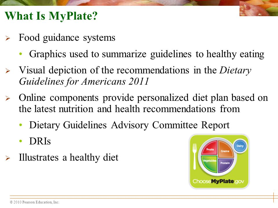 What Is MyPlate Food guidance systems