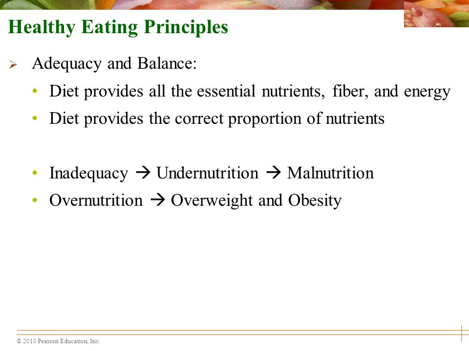 Healthy Eating Principles