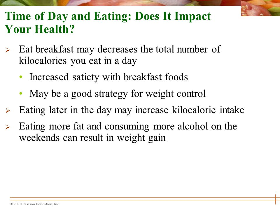 Time of Day and Eating: Does It Impact Your Health
