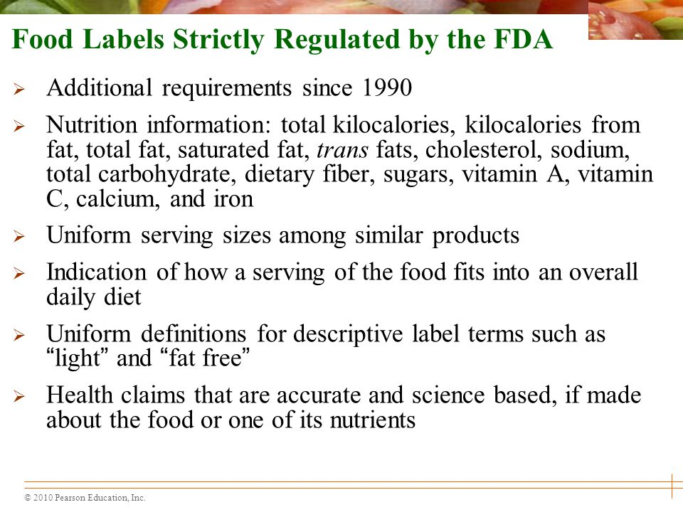Food Labels Strictly Regulated by the FDA