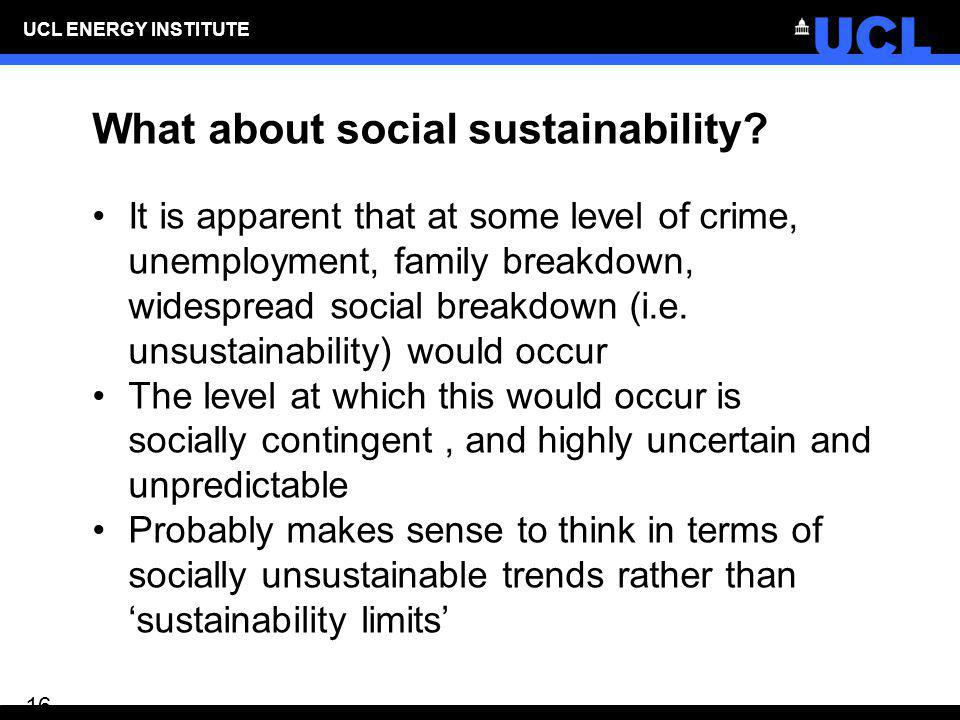 What about social sustainability
