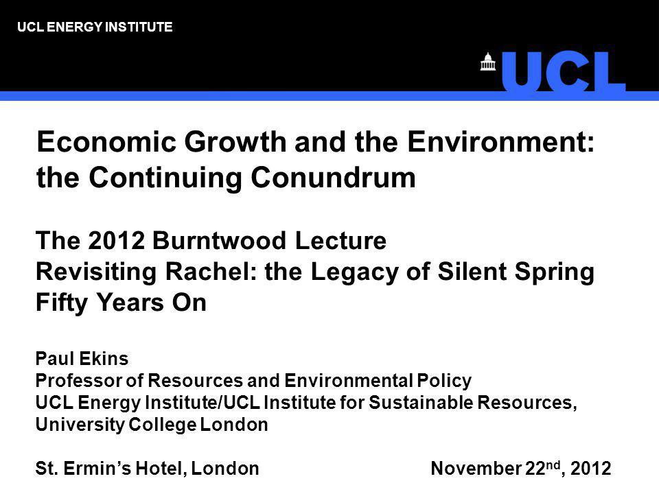 Economic Growth and the Environment: the Continuing Conundrum