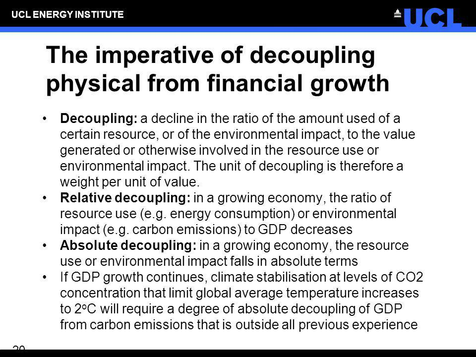 The imperative of decoupling physical from financial growth