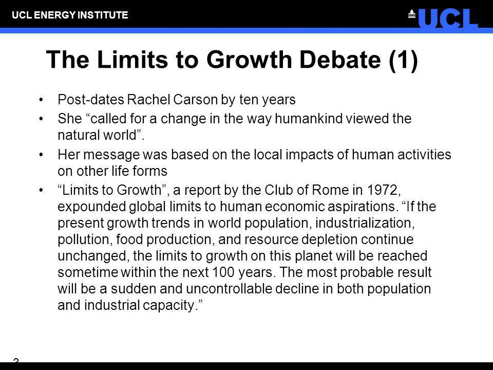 The Limits to Growth Debate (1)