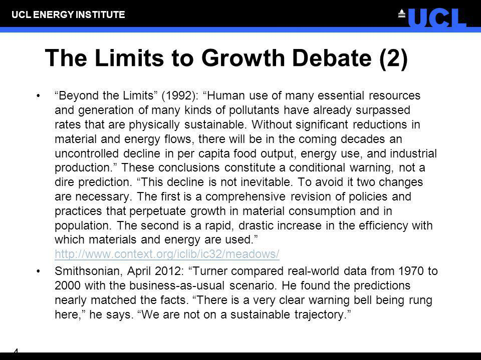 The Limits to Growth Debate (2)