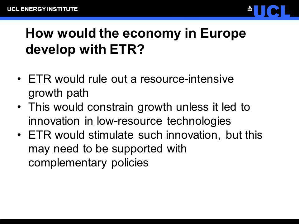 How would the economy in Europe develop with ETR