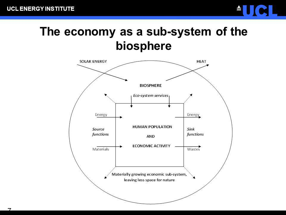 The economy as a sub-system of the biosphere