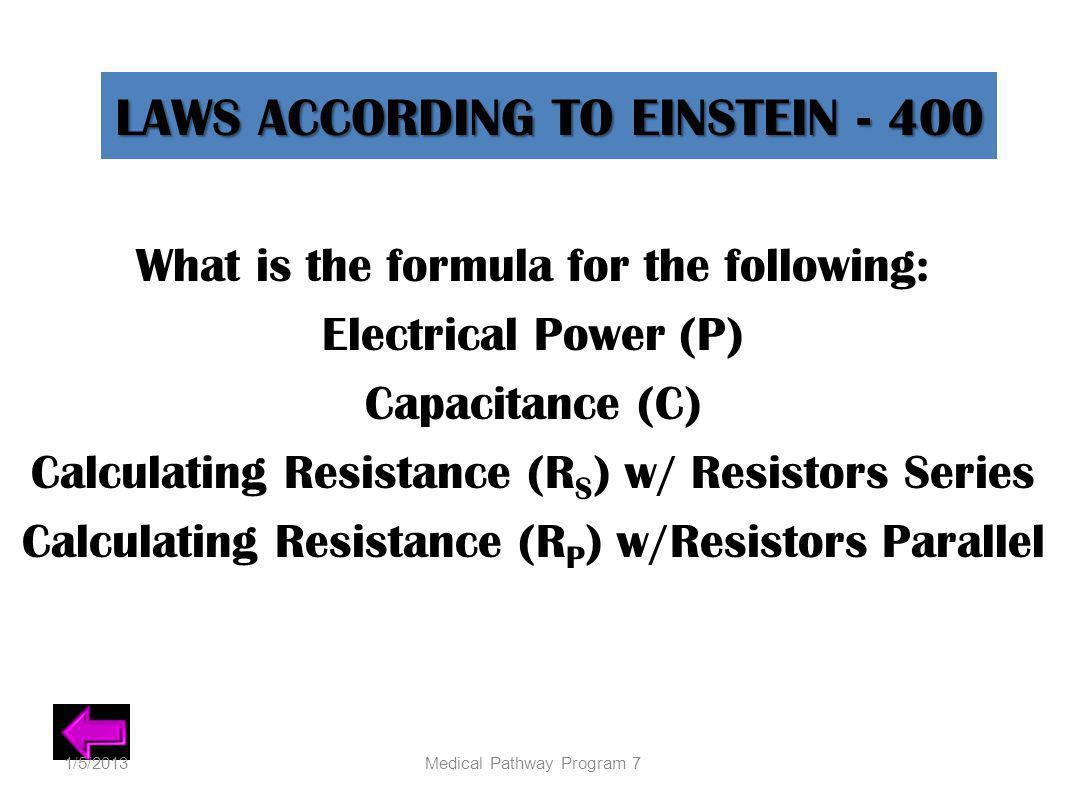 LAWS ACCORDING TO EINSTEIN - 400