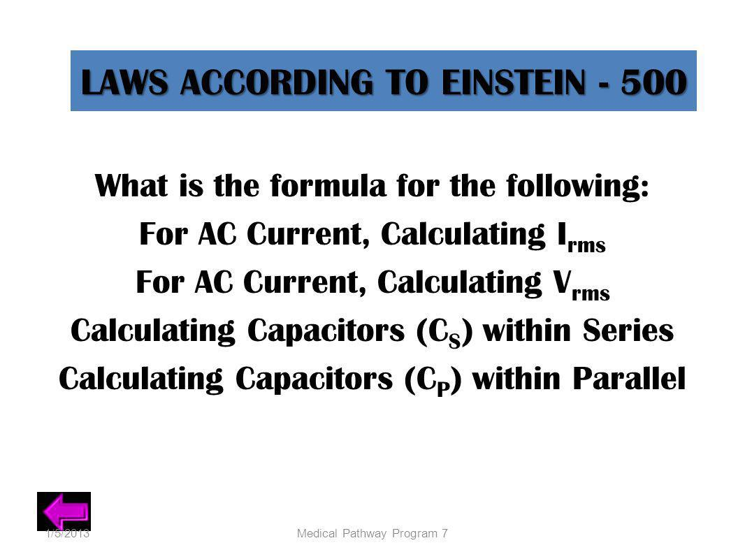 LAWS ACCORDING TO EINSTEIN - 500