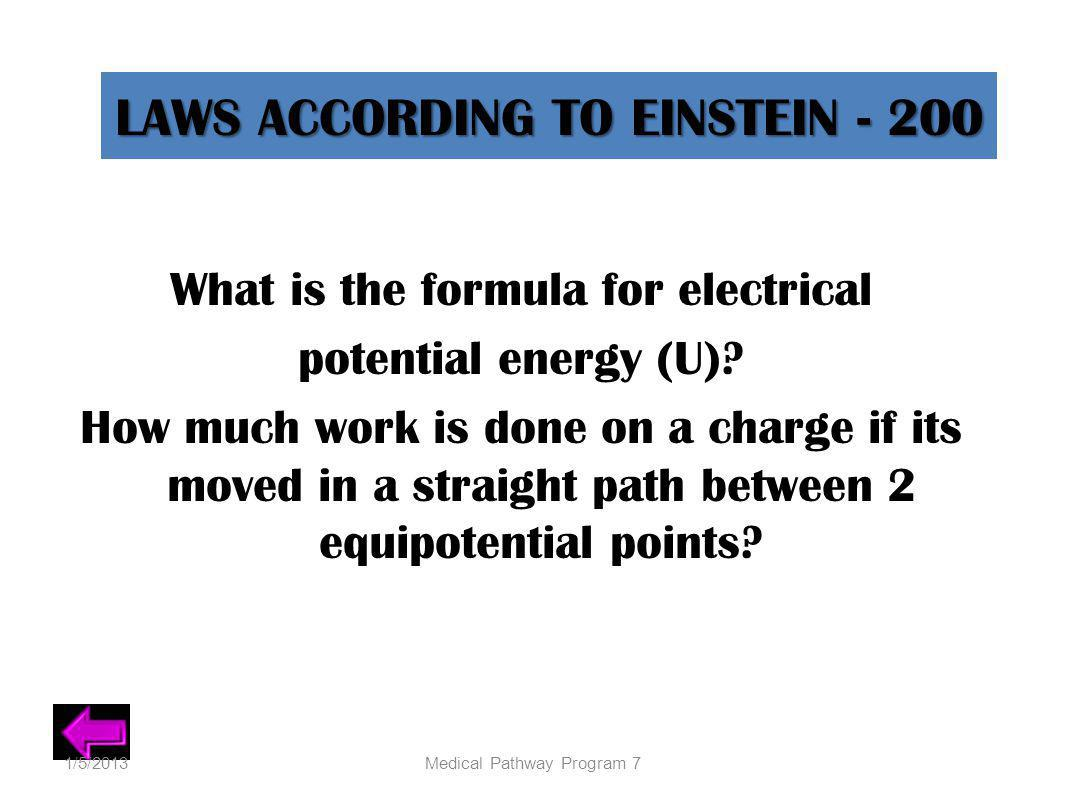 LAWS ACCORDING TO EINSTEIN - 200