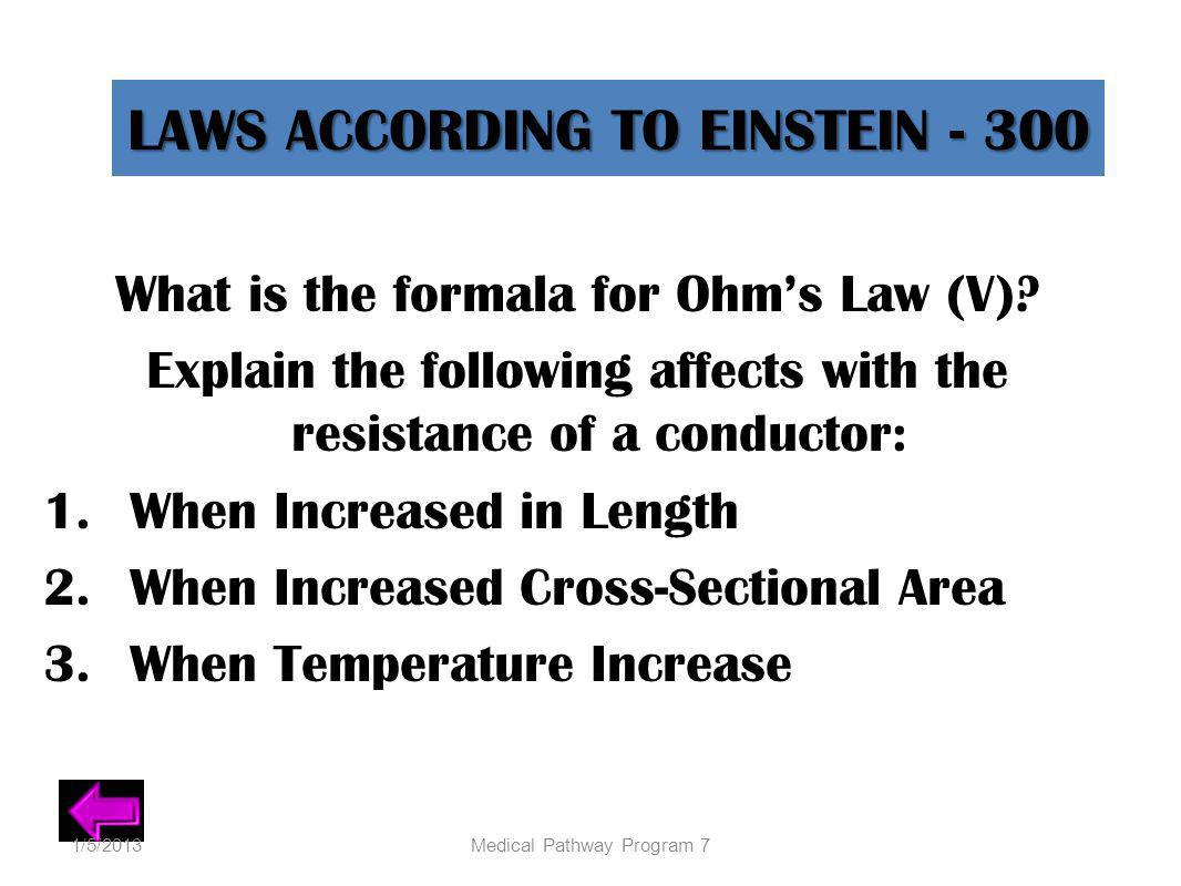LAWS ACCORDING TO EINSTEIN - 300