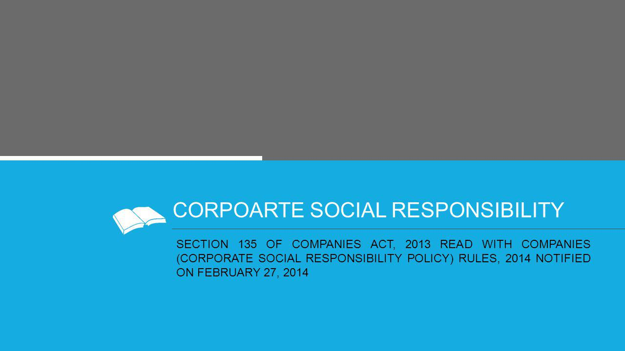 CORPOARTE SOCIAL RESPONSIBILITY
