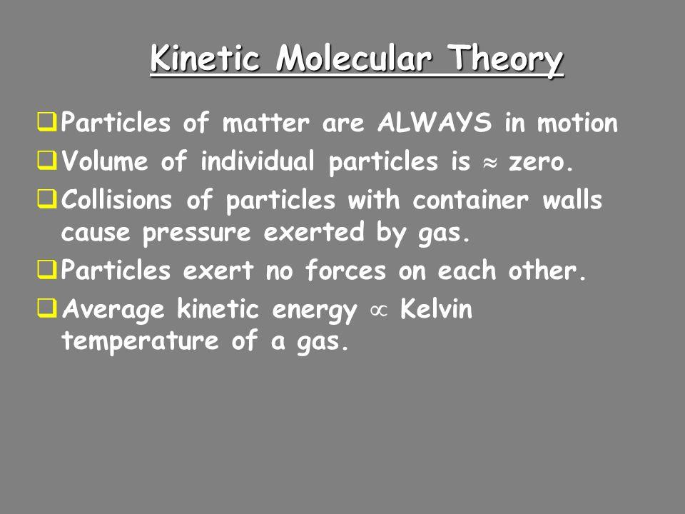 Kinetic Molecular Theory