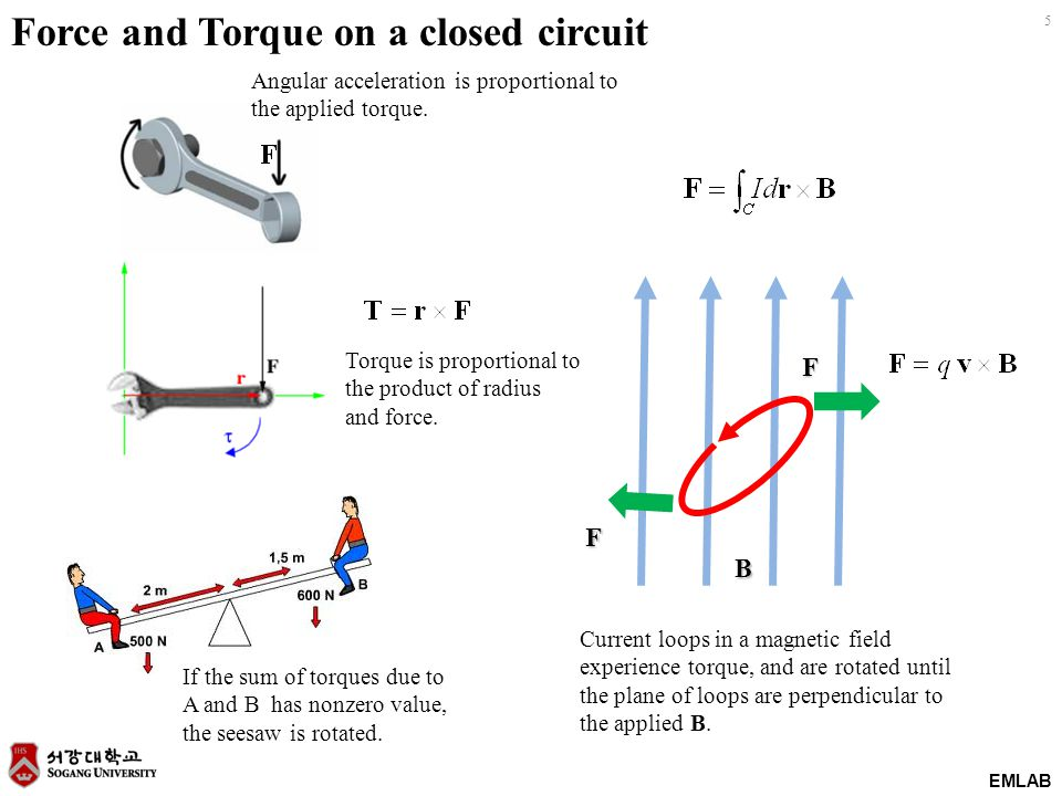 Force and Torque on a closed circuit