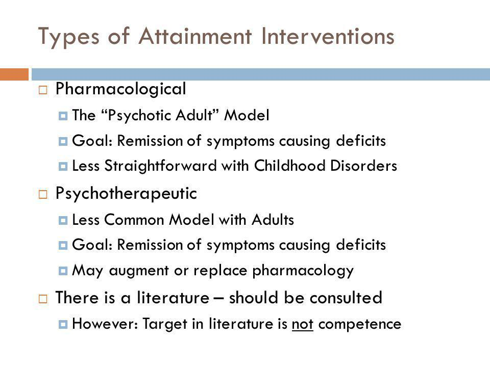 Types of Attainment Interventions