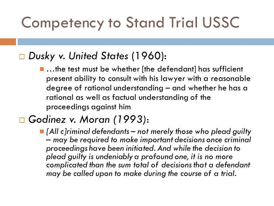 Competency to Stand Trial Essay