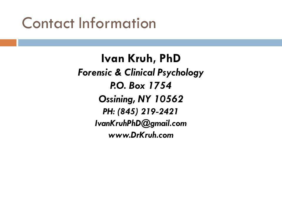 Forensic & Clinical Psychology