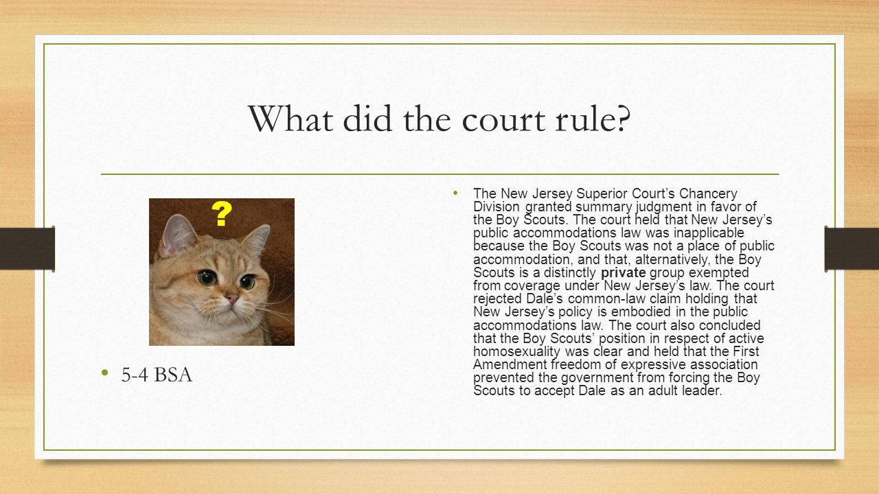 What did the court rule 5-4 BSA