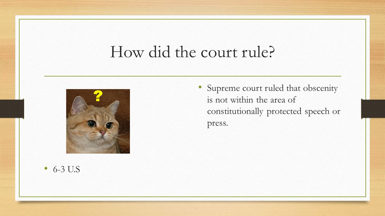 How did the court rule. 6-3 U.S.