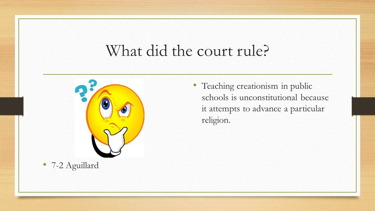 What did the court rule 7-2 Aguillard.