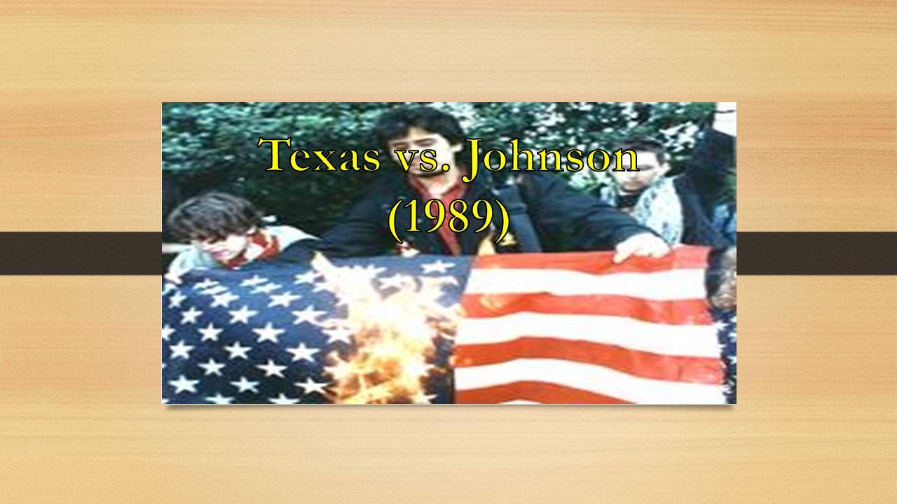 Texas vs. Johnson (1989)