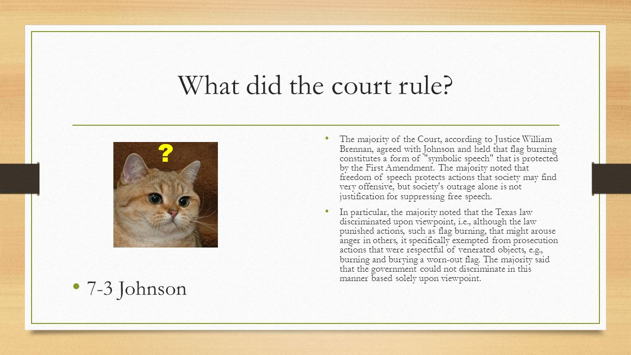 What did the court rule 7-3 Johnson