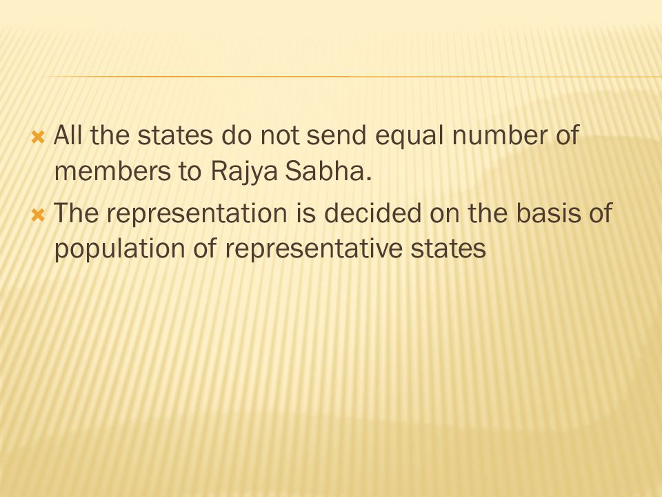 All the states do not send equal number of members to Rajya Sabha.