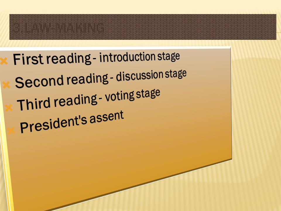 3.Law-Making First reading - introduction stage