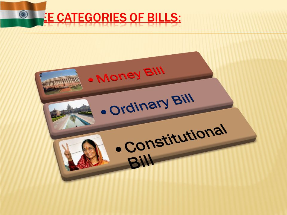 Three Categories of Bills: