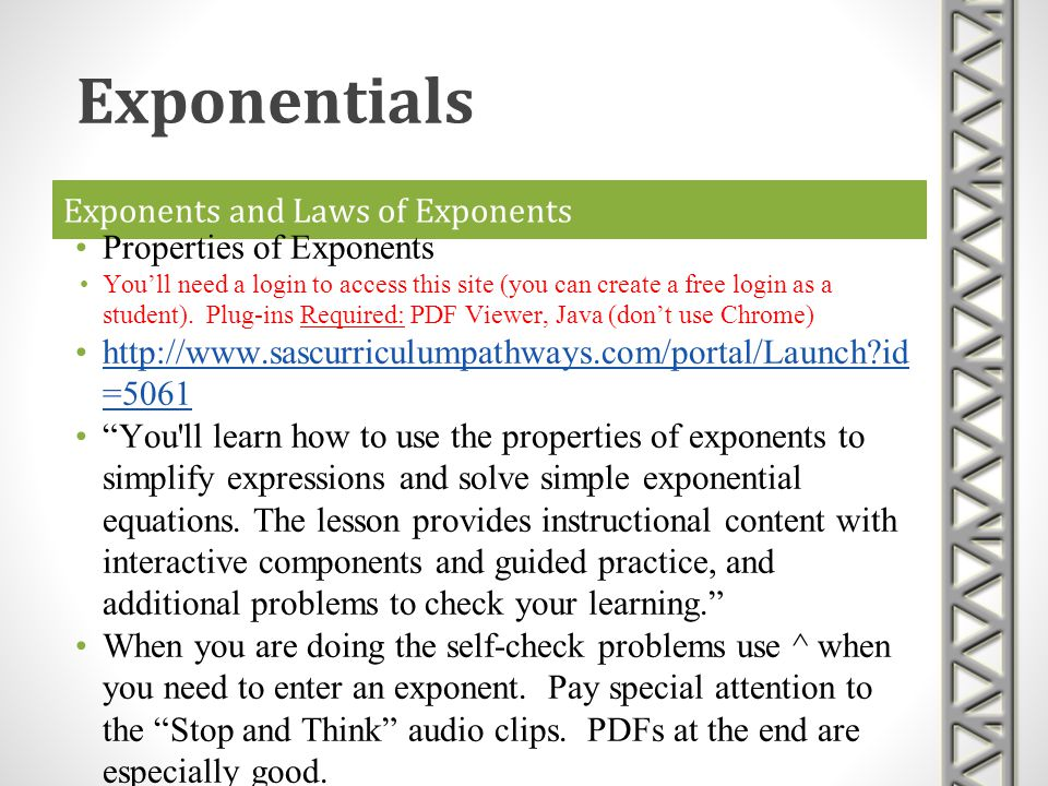 Exponents and Laws of Exponents
