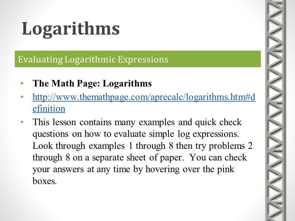 Exponentials and Logarithms - ppt download