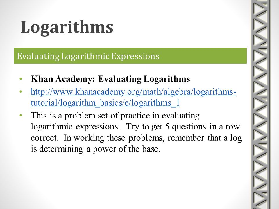 Evaluating Logarithmic Expressions