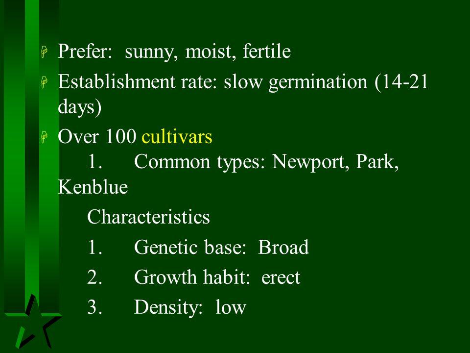 Prefer: sunny, moist, fertile