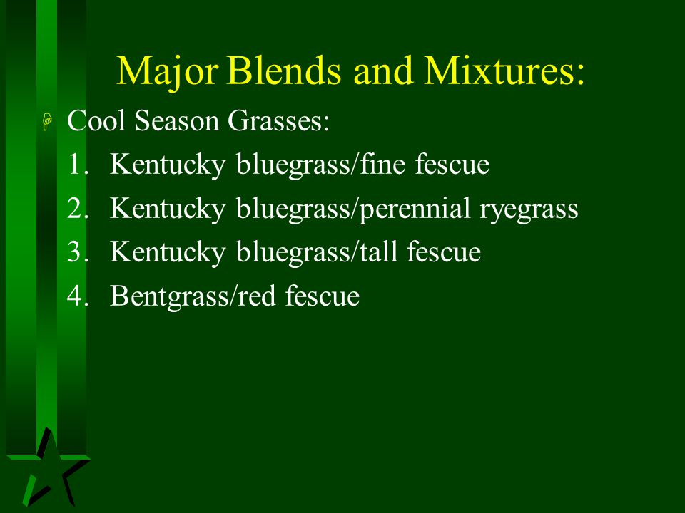 Major Blends and Mixtures: