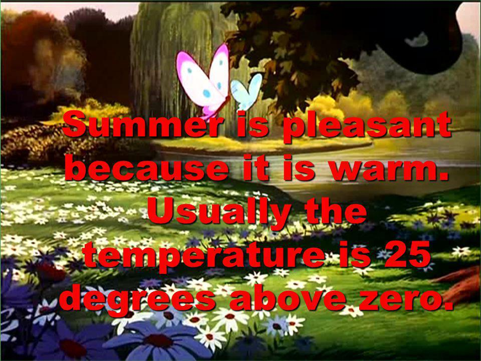 Summer is pleasant because it is warm