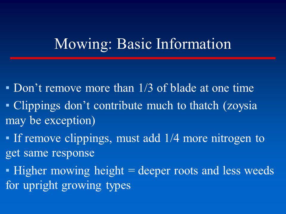 Mowing: Basic Information