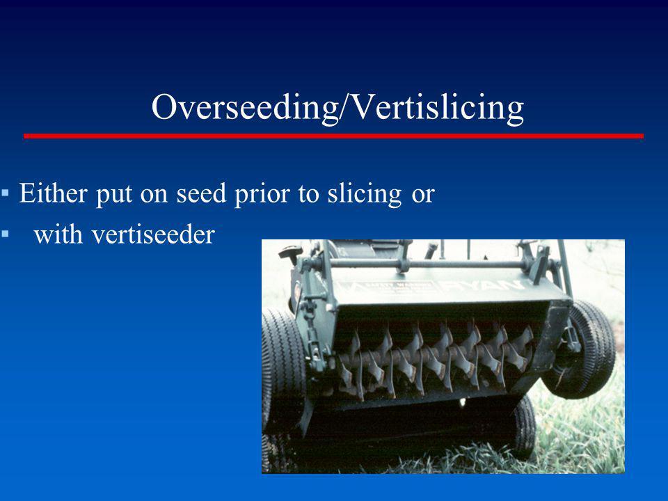 Overseeding/Vertislicing