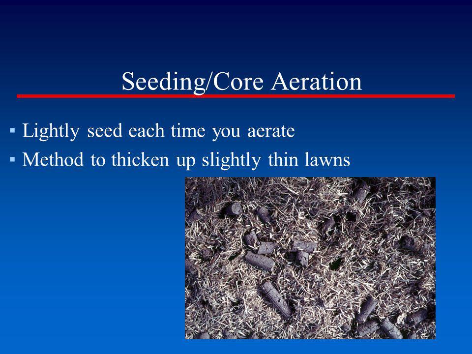 Seeding/Core Aeration