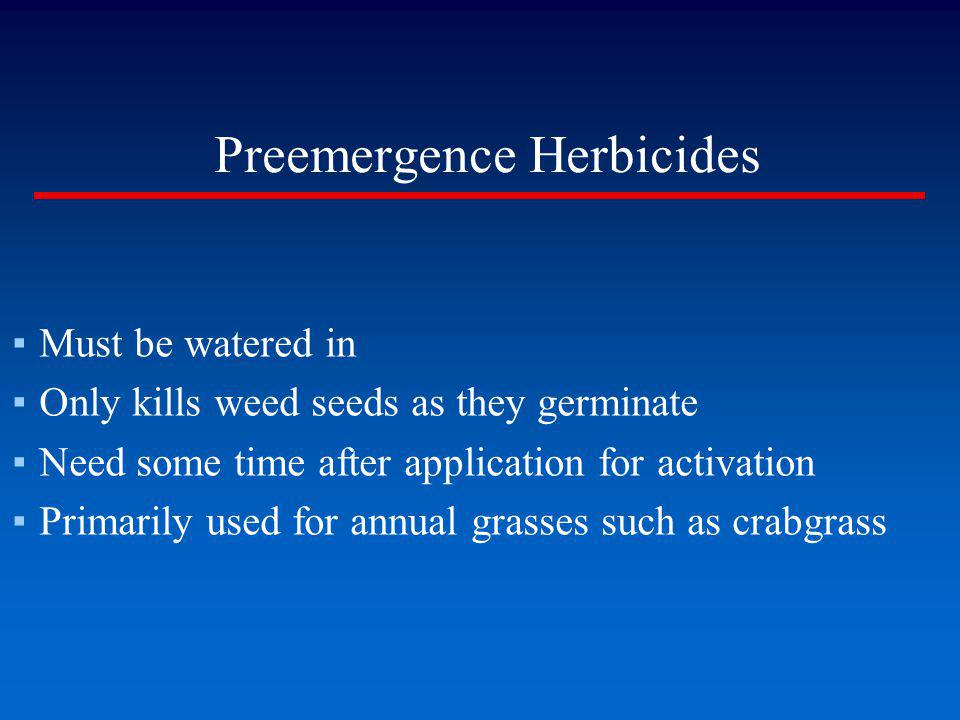 Preemergence Herbicides
