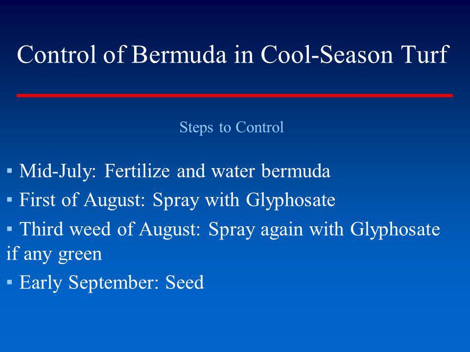Control of Bermuda in Cool-Season Turf