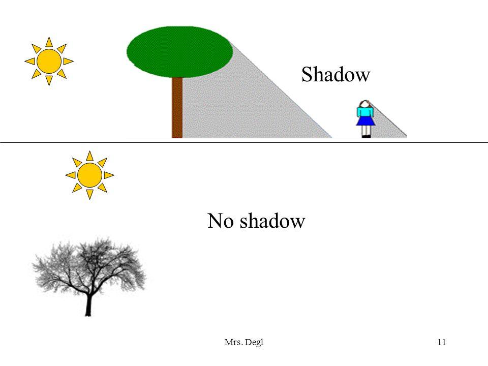 Shadow No shadow Mrs. Degl