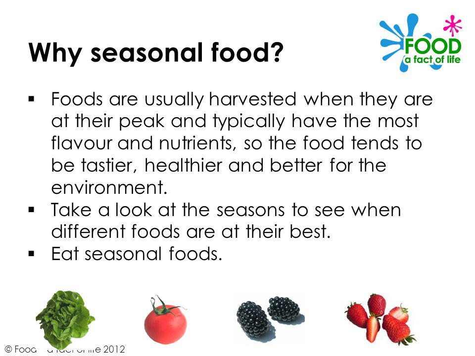Why seasonal food