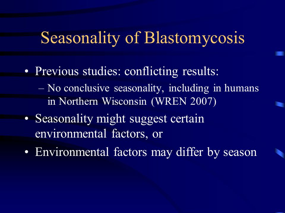 Seasonality of Blastomycosis