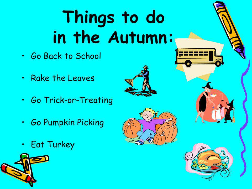 Things to do in the Autumn: