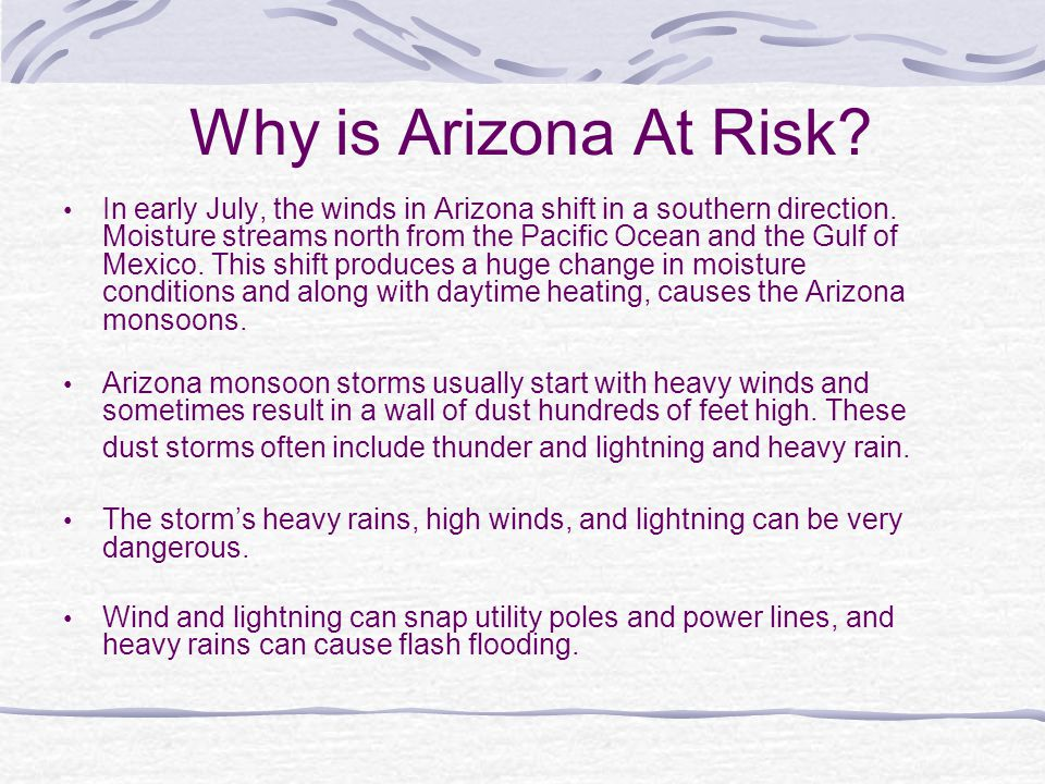 Why is Arizona At Risk
