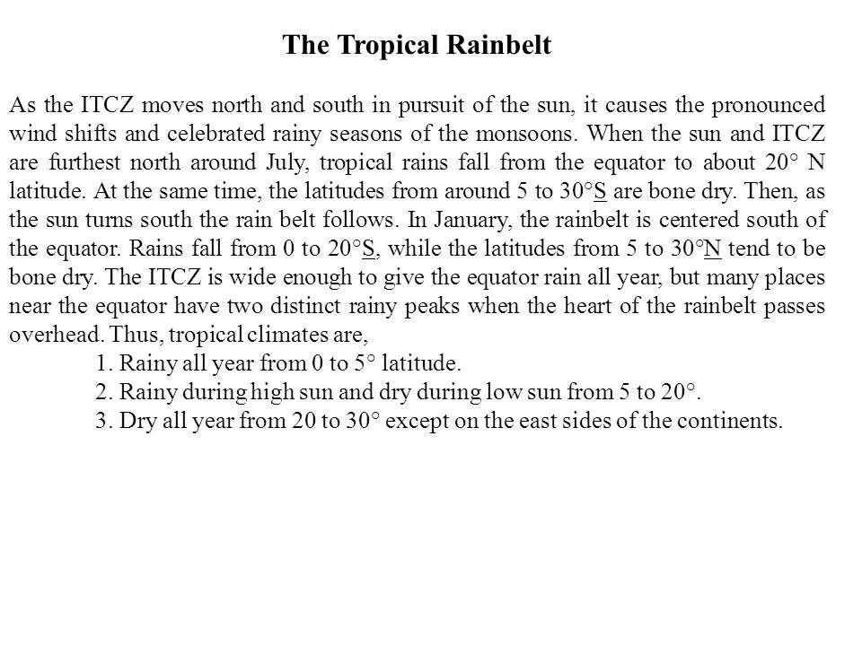 The Tropical Rainbelt