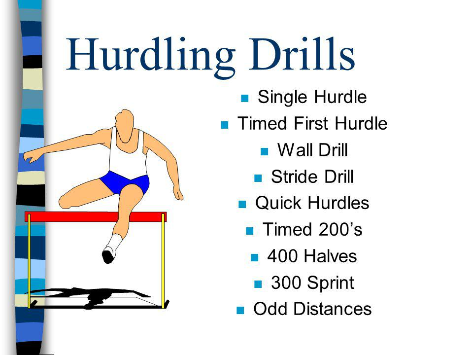 Hurdling Drills Single Hurdle Timed First Hurdle Wall Drill