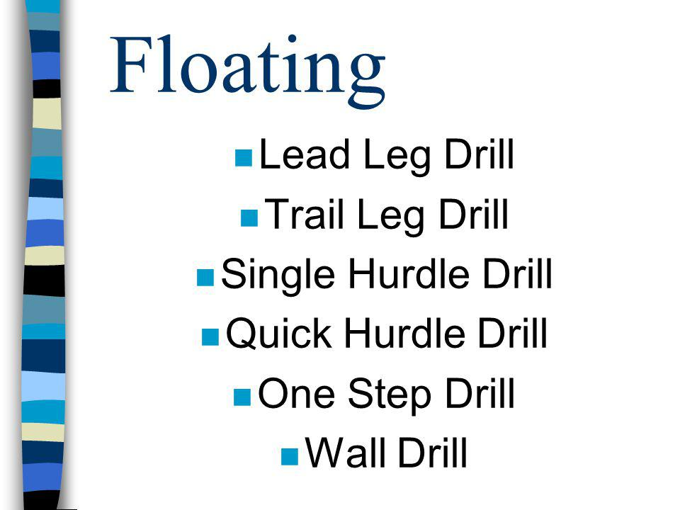 Floating Lead Leg Drill Trail Leg Drill Single Hurdle Drill